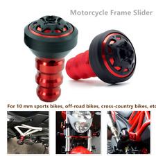 2*Motorcycle Protection Rod  MotorBike Frame Engine Anti-falling Slider Cap 10MM