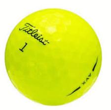 24 Golf Balls- Titleist AVX 2019 Yellow  AAAA