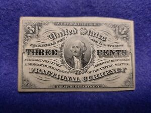 1863 3¢ Fractional Currency Note - Third Issue Washington - L@@K in EF condition