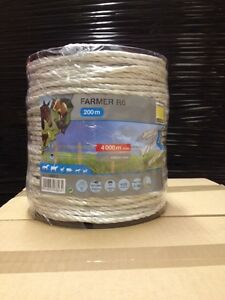 """""""FARMER R6"""", Rope 6mm by 200m - White"""