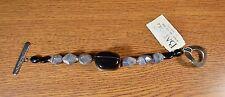 NWT BARSE  925 Sterling Silver  Botswana Agate Black Onyx Chunky Nugget Bracelet