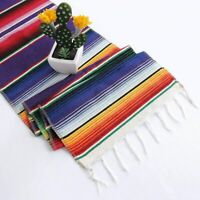 Helaku Mexican Table Runner Serape Theme Party 14x108 inches