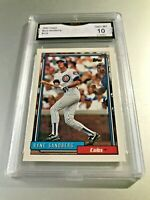 RYNE SANDBERG (HOF) 1992 Topps #110 GMA Graded 10 Gem Mint