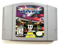 NFL Blitz ORIGINAL Nintendo 64 N64 Game Tested + Working & Authentic!