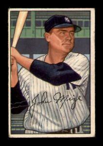 1952 Bowman Set Break # 145 Johnny Mize VG *OBGcards*