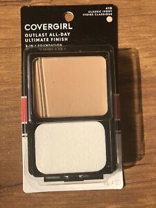 CoverGirl Ultimate Finish Liquid Powder Make Up, Classic Ivory [410] 0.40 oz