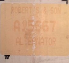 Alternator # A15667 RE-MANUFACTURED By Robert's & Son