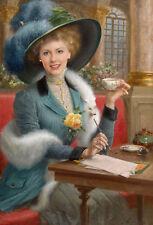 Portrait vom Foto, Reproduktion, Alte Maister -Gemälden