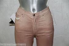 joli jeans rose résiné femme  JUST CAVALLI taille 36 (28)  NEUF ÉTIQUETTE