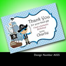 Personalised Birthday Thank You Cards Pirate A0025