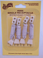 """ELECTRICAL OUTLET CORD 36"""" miniature dollhouse #2202 4p for 1/12 scale lights"""