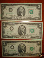 """EXTREMELY RARE 1976 $2 """"C"""" STAR NOTES UNC"""