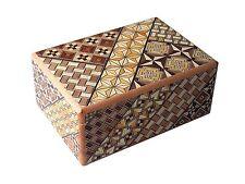 Traditional Japanese Hakone Yosegi Wooden Secret Puzzle Trick Box 12 Steps