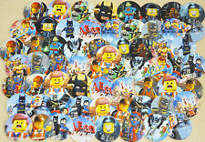 "SET of 63 1"" PRECUT ""LEGO MOVIE"" Bottle Cap Images.Birthdays,hairbows. Emmet"