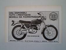 advertising Pubblicità 1971 MOTO MONTESA KING SCORPION 250