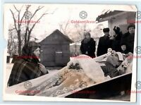 Post Mortem PHOTO Old man Coffin vintage funeral casket burial cemetery 01 E08