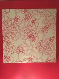 Large Wall Canvas X 2 Red Flowers