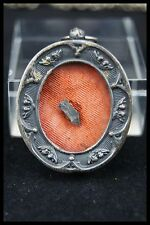 † BVM / OUR LADY of LA SALETTE RELIQUARY 1 RELIC ROCK APPARITION 1846 WAX SEAL †