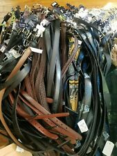 100 Lot Assorted Leather Belts Huge resale collection all NWT