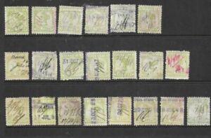 Bulk Stamps Victoria 1d Green  Queen Victoria x 21 Good Used