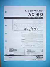 Service manual manual for Yamaha AX-492,ORIGINAL