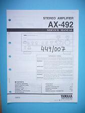Service Manual-Anleitung für Yamaha AX-492,ORIGINAL