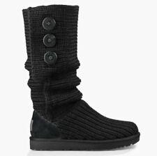 "Ugg Australia ""w Purl Cardy Knit"" bota botas señora zapatos negro nuevo"