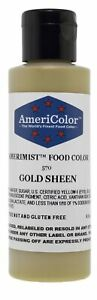 Americolor Amerimist Edible Paint and Airbrush Food Color, 4 1/2-Ounce, Gold ...