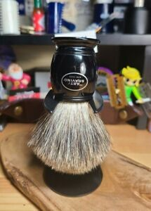 The Art Of Shaving (TAOS) Shave Brush and stand Pure badger 4 inches high NICE!!