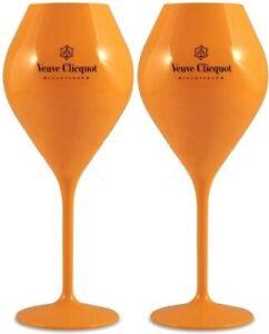 Veuve Clicquot Saint-Tropez Giant Champagne Flutes x 2