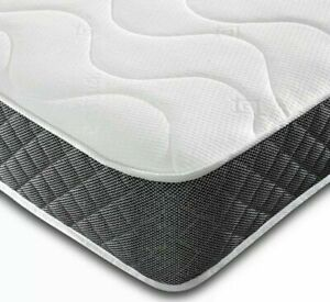 """9"""" DEEP QUILTED ORTHOPEDIC SPRUNG MATTRESS 3FT 4FT 4FT6 DOUBLE 5FT KING UK"""