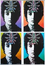 BOB DYLAN TARANTULA Art Print A4 Set of 4 Signed A. Mckiernan 60s Pop Art Poster