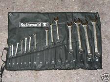Rothewald Ringschlüssel Maulschlüssel Set 14-teilig Chrom-Vanadium-Stahl