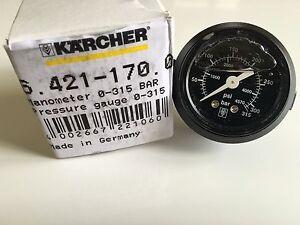 Genuine Karcher Manometer 0-315 BAR Pressure Gauge HDS 64211700