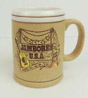 VTG Jamboree USA Wheeling W. Virginia Stein Mug Cup Stoneware Souvenir  Japan