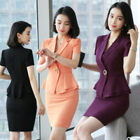 Summer Slim Beauty Salon Office Uniform Styles Women Business Suit Work Wear Set
