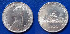 MONETA DA 500 LIRE ARGENTO ITALIA 1966 CARAVELLE MüNZEN SILBER PLATA