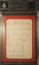 Ty Cobb UD MASTERPIECES Handwritten Cut Letter BAS BECKETT Authentic Handwriting