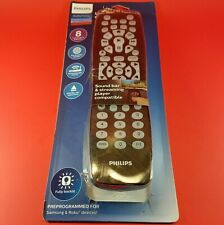 NEW Philips 8 Device Elite Plus Backlit Universal Remote Control - Brushed Black