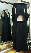 Howard Showers Dress.SzL.Hi sheen black brocade.Fully lined.Has stretch. As new.
