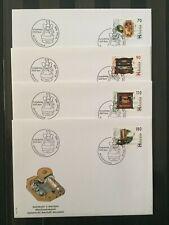 Enveloppes FDC timbres Suisse 1996. YT CH 1513/16. Boîtes à musique