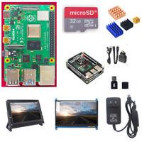 Raspberry Pi 4 Model b Kit 7 In Touch Screen Case Power Supply Heatsink Fan HDMI