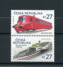 Czech Republic 2016 MNH Slovak Arrow & Vysegrad 2v Set Trains Steam Boats Ships