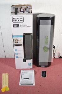 BLACK+DECKER Vertical/Horizontal Ceramic Indoor Heater Black