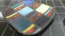 50s/60s Lu Klopfer Keramik Wandteller für Johann Lipp 1956 7931/13