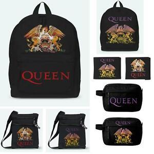 Queen Rocksax Back Pack Ruck Sack Body Bag Wash Bag Wallet 100% Official Merch