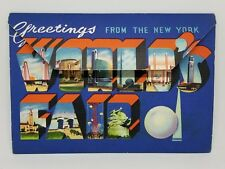 Mint Greetings From The New York Worlds Fair Postcard Book Double Sided 1939