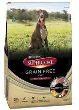 Purina Supercoat Adult Grain Free Dog Food Real Beef 15kg Australian Made