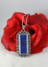 Sterling Silver Lapis Lazuli 29.99g Neckalce Cat Rescue