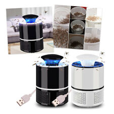 Zapper Mosquito Insect Killer LED Light Trap Pest Control USB Rechargeable Black